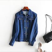 中大尺碼牛仔外套 韓版牛仔短版顯瘦薄藍色外套 XL-5XL #lm8248 ❤卡樂❤