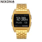 NIXON 手錶 原廠總代理 A1107-502 金色 潮流時尚膠錶帶 男女  生日 情人節禮物