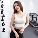 運動內衣女防震聚攏定型無鋼圈速干健身房跑步瑜伽背心式文胸bra   可然精品