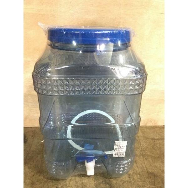 【晶美20公升方型礦泉飲水桶PET】307349方桶形礦泉飲水桶 PET桶 透明給水!【八八八】e網購
