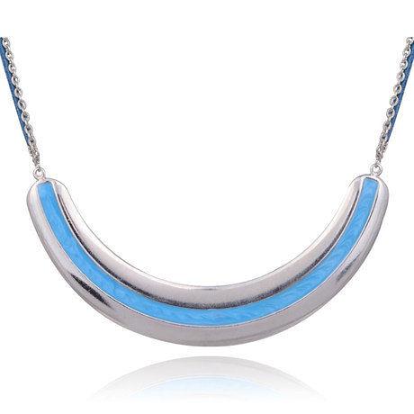 時尚原創 藍色格調時尚短款 項鏈