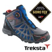 Treksta ADT MID 203 男 Gore-Tex 防水中筒登山鞋 (腳底透氣技術 / 快速綁帶系統) 藍 高筒健行鞋 KR16KM
