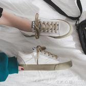 小白帆布鞋子女學生韓版潮鞋夏春款板鞋春秋百搭春季 ♥怦然心動♥