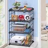 圣若瑞斯創意鐵藝桌面上書架置物架經濟小型學生書房宿舍整理收納igo『韓女王』