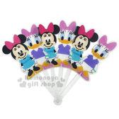 〔小禮堂〕迪士尼 米妮 造型塑膠折扇《站姿.黛西》人型扇.手拿扇 8039700-10002