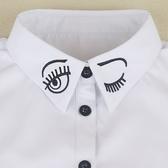 假領子假領片洋裝韓版假衣領T恤  韓版 可愛風 罩衫大學T針織衫內搭白色[E1184]  預購.朵曼堤洋行