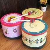 樂器鼓兒童玩具幼兒園打擊樂器敲敲鼓卡通兒童鼓韓國小地鼓88折開學季,88折下殺