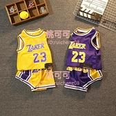 男童籃球服套裝兒童無袖背心短褲兩件套速干運動夏裝【桃可可服飾】