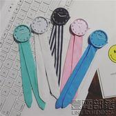韓版ulzzang時尚布藝綁帶手錶小清新森系女錶chic學生個性石英錶