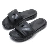 ADIDAS 拖鞋 ALPHA BOUNCE SLIDE 全黑 軟墊拖鞋 拖鞋 舒適好穿 男 (布魯克林) B41720