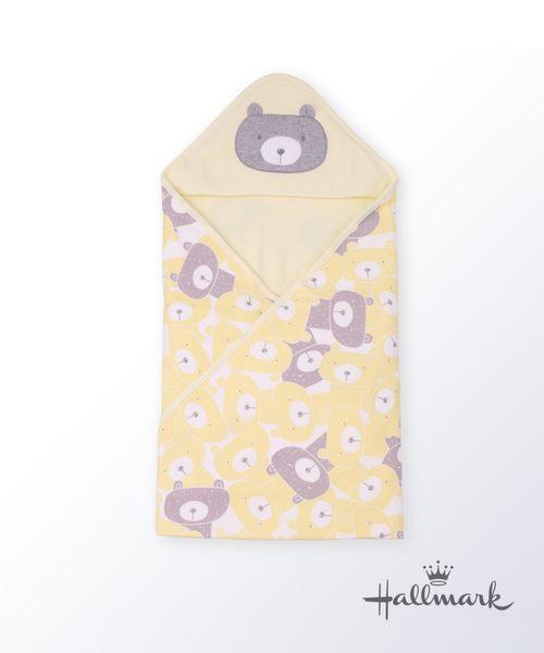 Hallmark Babies熊出沒純棉三角帽包被/毯子/包巾 HG3-F01-A6-AU-MY