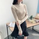 ★2018秋冬女裝新款韓版半高領套頭長袖...