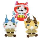 【 日本 BANDAI 】妖怪手錶 絨毛娃娃-吉胖喵/小石獅/小石次郎