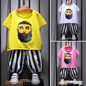 男童夏裝套裝新款夏季童裝兒童韓版短袖中小童帥氣寶寶兩件套  Cocoa