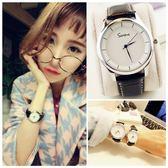 情侶手錶女士學生韓版簡約潮流ulzzang復古男錶休閒大氣女錶石英     韓小姐の衣櫥