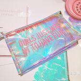 化妝包小號便攜韓國簡約大容量多功能旅行透明可愛少女軟妹收納包