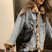 牛仔外套 冬季新款兩面穿女韓版寬鬆顯瘦酷帥豹紋仿兔毛大衣潮 - 古梵希