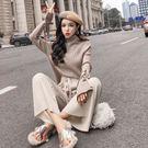 VK精品服飾 韓系慵懶風寬口褲套裝長袖褲裝