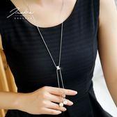 毛衣鏈女夏季長款百搭簡約韓國個性2018衣服掛件大氣配飾珍珠項鏈  巴黎街頭
