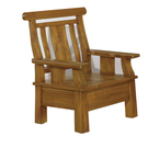 【采桔家居】亞托德 時尚柚木實木單人椅