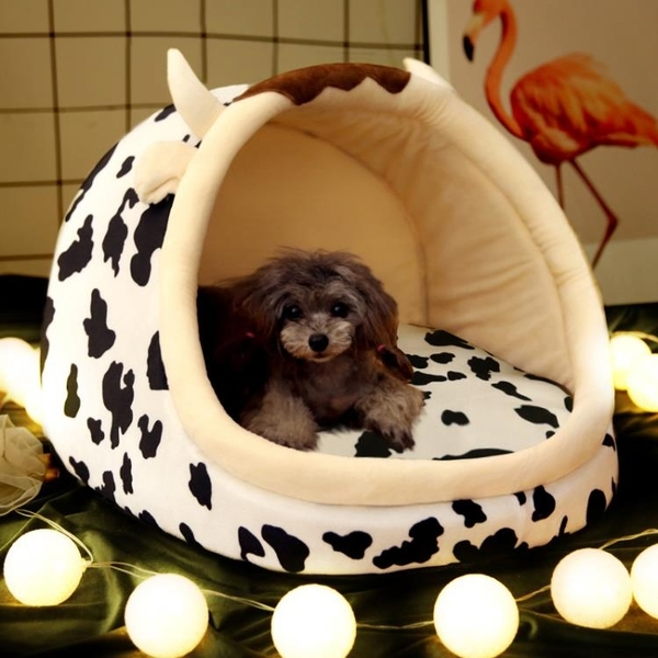 狗窩四季通用夏天涼窩房子小型犬可拆洗床泰迪貓屋網紅寵物狗用品 【蜜斯sugar】
