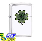 [107美國直購] 打火機 Zippo Lighter: Four Leaf Clover - Brushed Chrome 79113