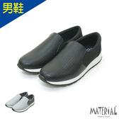 男鞋 異材拼接皮感休閒鞋 MA女鞋 T7083