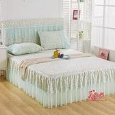 床裙 新款韓版公主蕾絲床裙式單件床罩床套保護套1.5m1.8米 6色