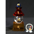 五色水晶寶篋印陀羅尼寶塔(高18公分) 【十方佛教文物】