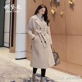 毛呢外套女休閒中長款韓版新品秋冬流行女裝呢子大衣『新佰數位屋』
