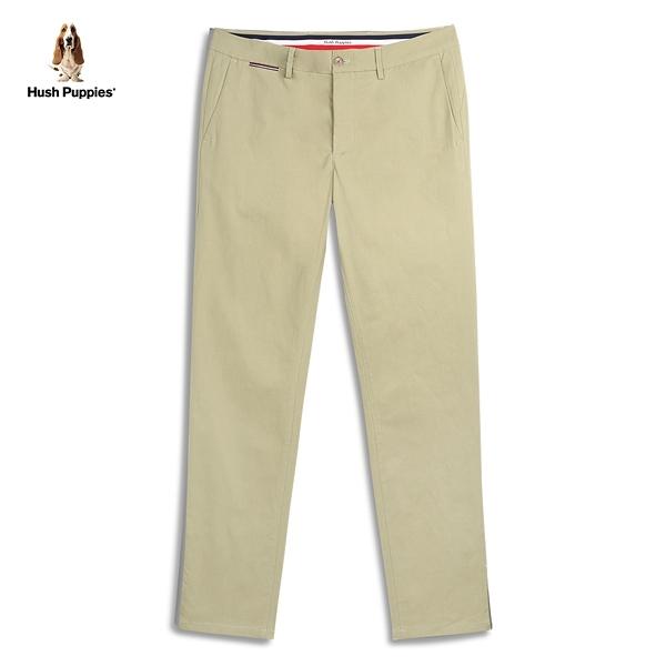 Hush Puppies 長褲 男裝素色高彈修身三色織帶長褲