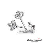 鑽石耳環 PERKINS 伯金仕 Princess系列 總重0.22克拉耳環