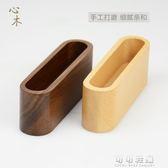 木質辦公桌面名片盒創意簡約名片座名片架卡片盒實木收納盒 可可鞋櫃
