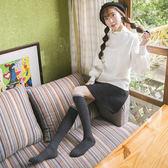 韓版堆堆襪女學院風高筒襪日繫春秋長筒過膝襪美腿瘦腿襪子女【七夕節禮物】