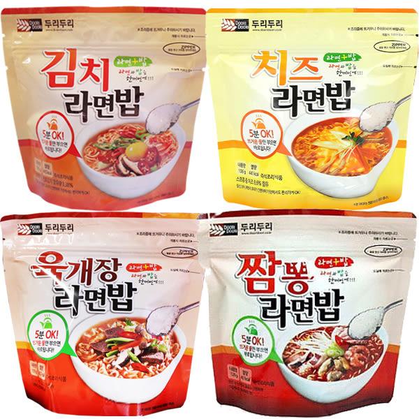韓國 Doori Doori 泡麵+泡飯(1袋入) 韓式泡菜/起士/大醬湯/炒碼海鮮 4款可選【小三美日】