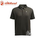 丹大戶外【Wildand】荒野 男彈性POLO吸排抗UV條紋衣 0A71660-93 深灰色