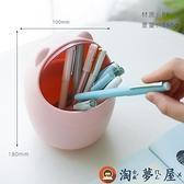 多功能筆筒桌面文具收納桶紙筒卡通筆筒【淘夢屋】