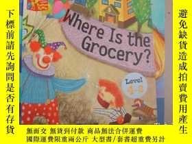 二手書博民逛書店where罕見is the grocery LEVEL 4-8Y