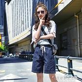 夏季薄款牛仔短褲女五分褲2020年直筒寬鬆韓版高腰中褲顯瘦寬管潮 中秋節全館免運