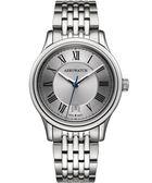 AEROWATCH 經典羅馬旗鑑腕錶-銀 A24962AA01M