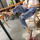 七分褲 七分褲女夏季薄款寬鬆三宅一生褶皺女褲九分蘿卜百褶闊腿休閒褲子 愛丫 新品