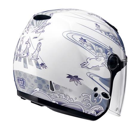 SOL安全帽,27Y,月兔/白銀