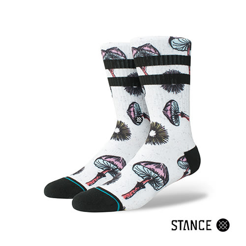 【STANCE】SILLY SHROOMS-男襪-休閒襪(M556A18SIL WHT)
