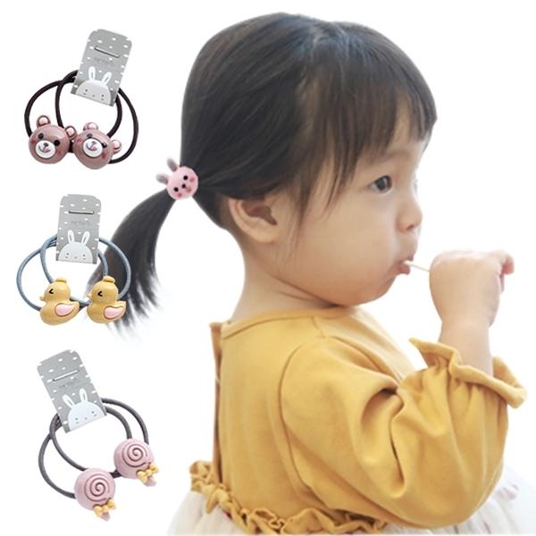 兒童髮夾 卡通髮圈嬰兒皮筋髮飾-JoyBaby