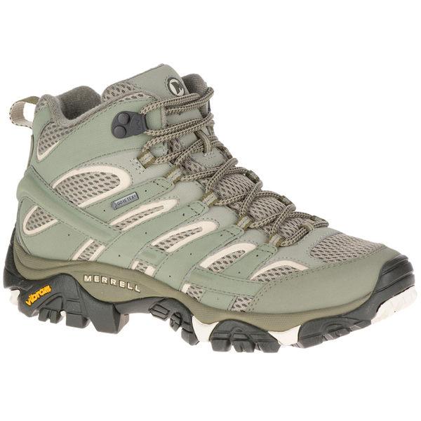 美國 MERRELL MOAB 2 GORE-TEX 黃金鞋底健行鞋/高筒登山鞋/健行鞋 女款 12116 淺橄欖綠