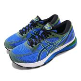 Asics 慢跑鞋 Gel-Nimbus 21 4E Extra Wide 超寬楦頭 藍 綠 路跑 亞瑟膠 運動鞋 男鞋【PUMP306】 1011A168400