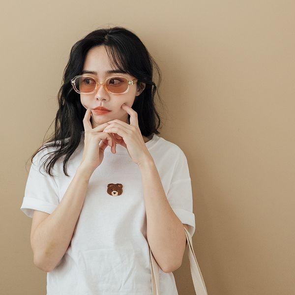 MIUSTAR 復古透明黃橢圓墨鏡(共1色)【NJ0347】預購