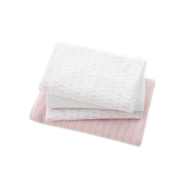 mothercare MY FIRST床包毯子4件組-粉色