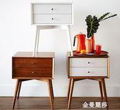 床頭櫃簡約現代實木簡易北歐迷你經濟型多功能臥室歐式床頭收納櫃igo 金曼麗莎