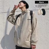 外套  雙面穿百搭立領外套【XSKA16】格紋外套 雙面外套 飛行外套 立領 素面外套 寬鬆落肩